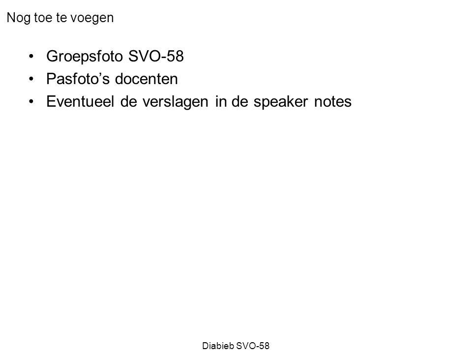 Diabieb SVO-58 Seminar 4 – Inrichten van veranderingsprocessen Kilian Bennebroek Gravenhorst