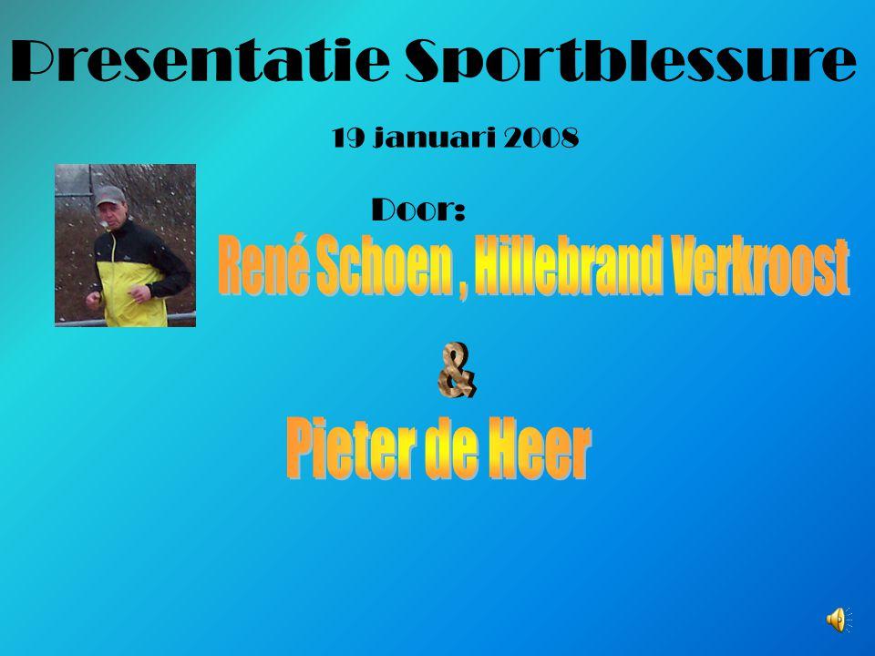 Presentatie Sportblessure 19 januari 2008 Door: