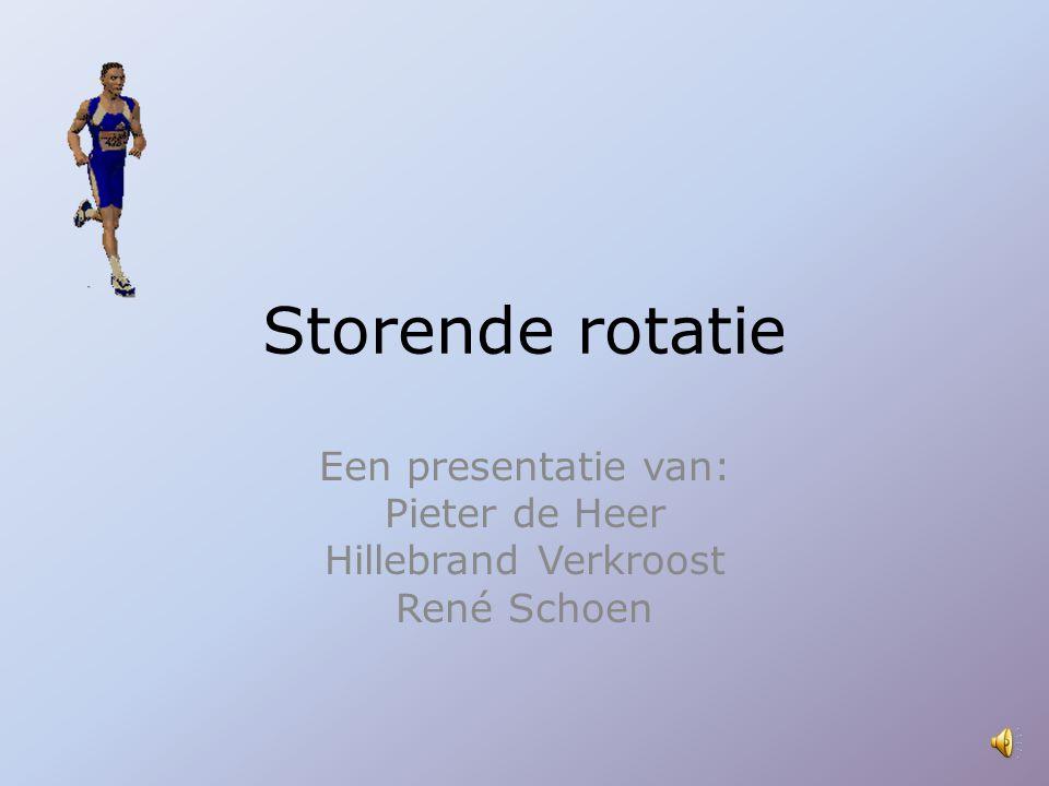 Storende rotatie Een presentatie van: Pieter de Heer Hillebrand Verkroost René Schoen