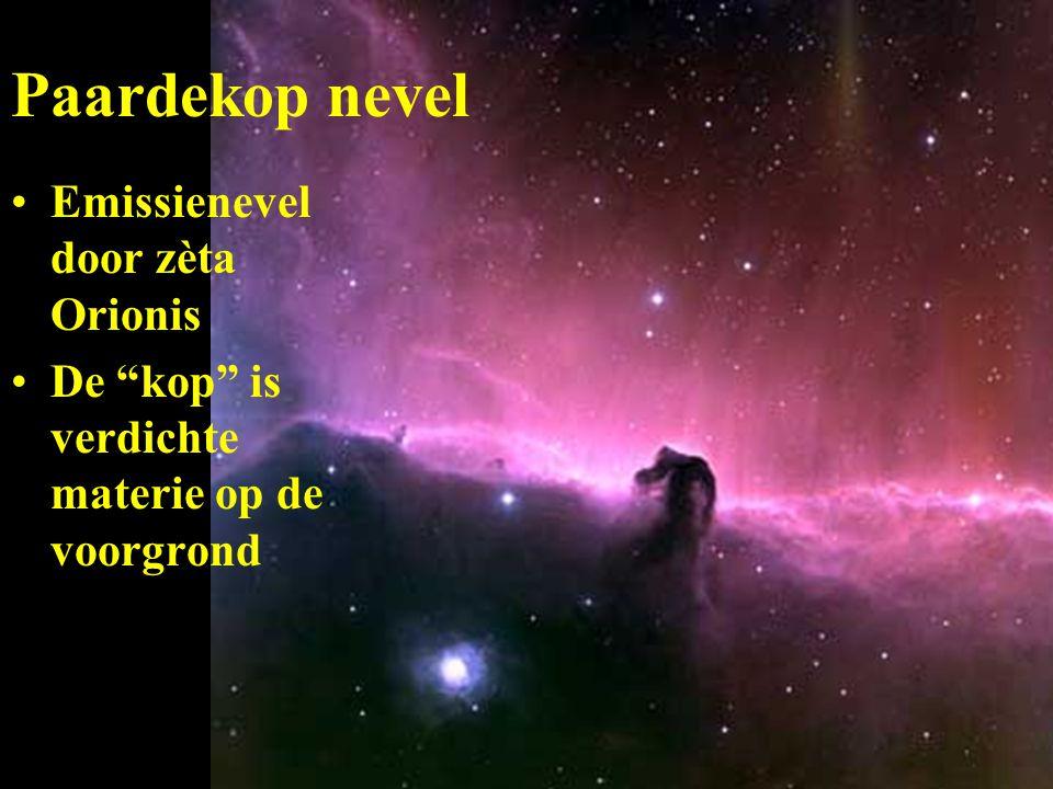 Paardekop nevel Emissienevel door zèta Orionis De kop is verdichte materie op de voorgrond