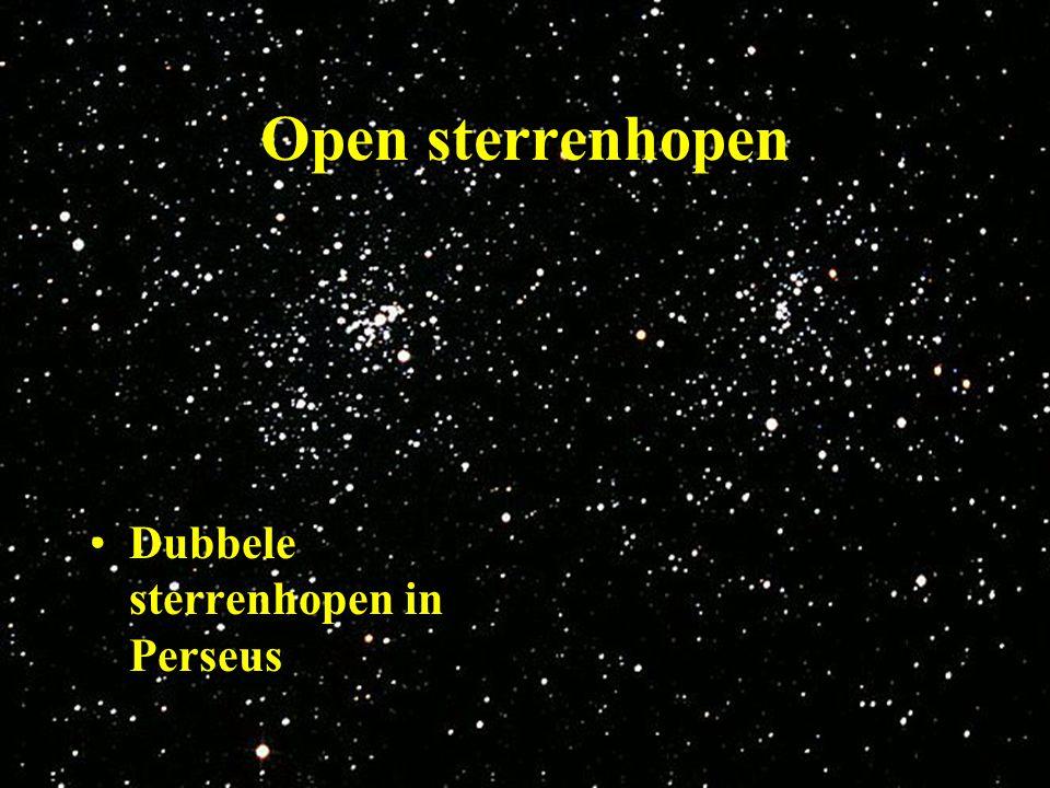 Open sterrenhopen Dubbele sterrenhopen in Perseus