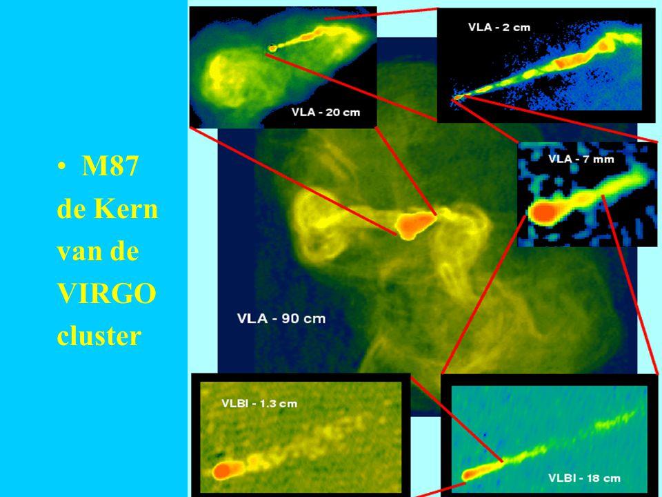 M87 radiolobben M87 de Kern van de VIRGO cluster