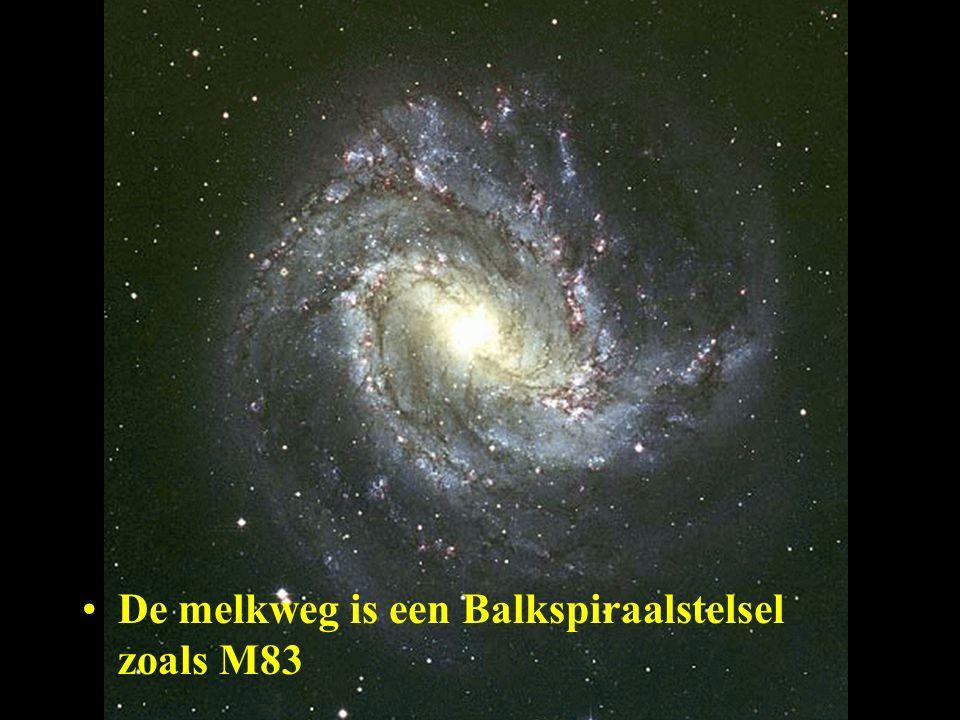 De melkweg is een Balkspiraalstelsel zoals M83