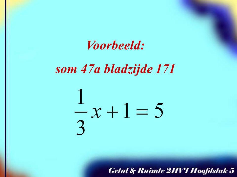 Je mag dan aan beide kanten van het = teken: Met hetzelfde getal vermenigvuldigen Door hetzelfde getal (of breuk) delen En NATUURLIJK: Hetzelfde getal optellen of aftrekken Als er in een vergelijking breuken staan wil je deze breuken graag zo snel mogelijk wegwerken.