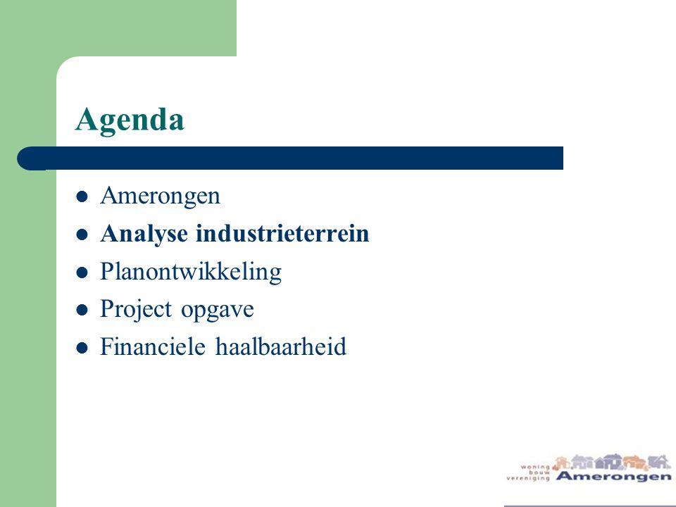 Agenda Amerongen Analyse industrieterrein Planontwikkeling Project opgave Financiele haalbaarheid