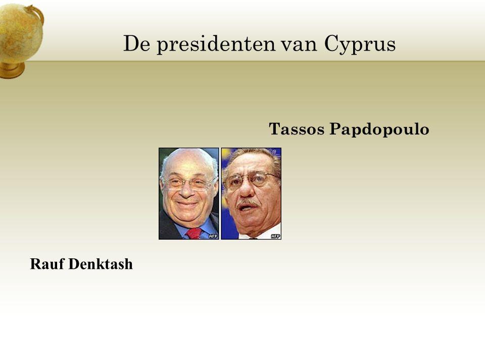 De presidenten van Cyprus Tassos Papdopoulo Rauf Denktash
