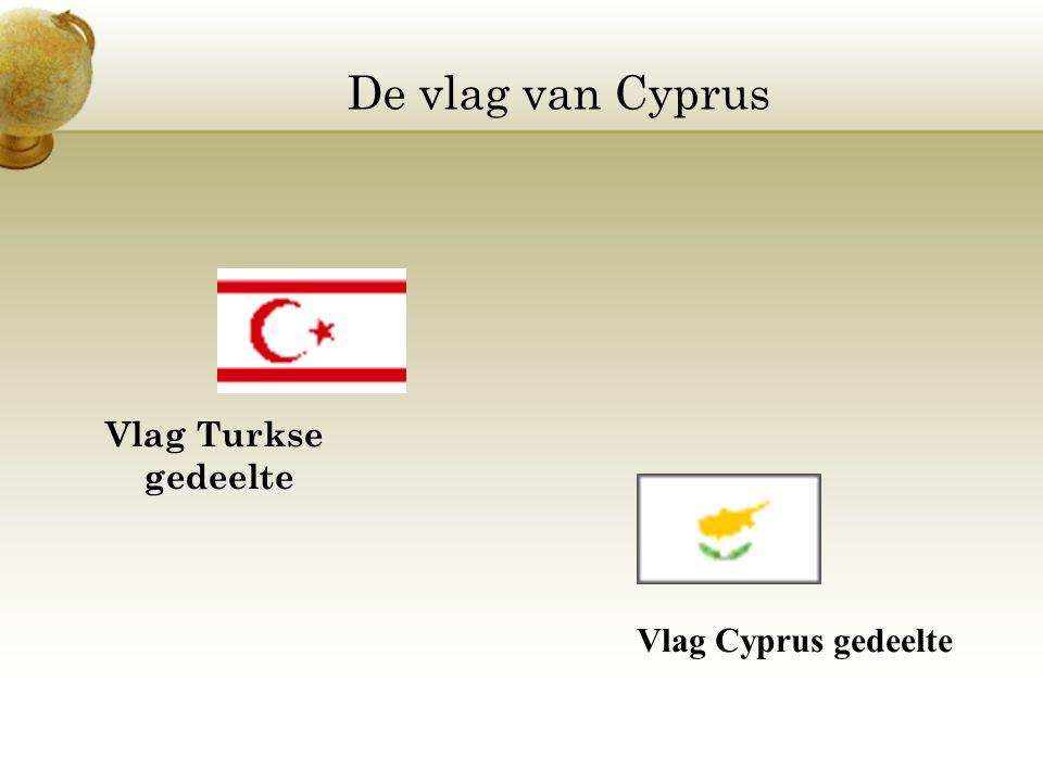 De vlag van Cyprus Vlag Turkse gedeelte Vlag Cyprus gedeelte