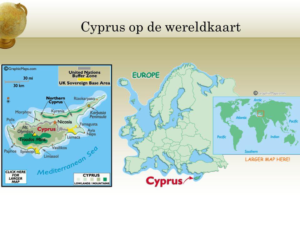 Cyprus op de wereldkaart