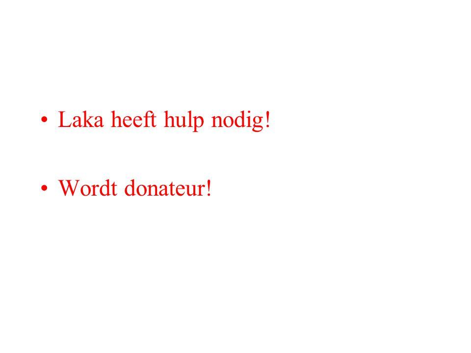 Laka heeft hulp nodig! Wordt donateur!