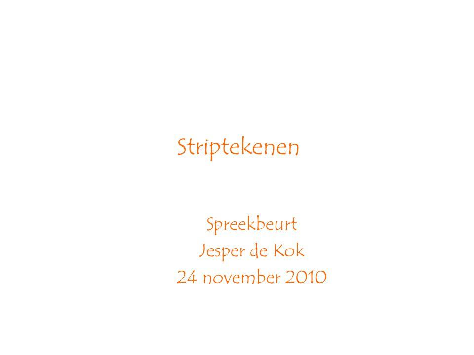 Striptekenen Spreekbeurt Jesper de Kok 24 november 2010