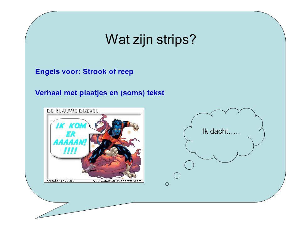 Waarom strips? Ik wil later striptekenaar worden Ik lees graag strips Ik vind de plaatjes leuk