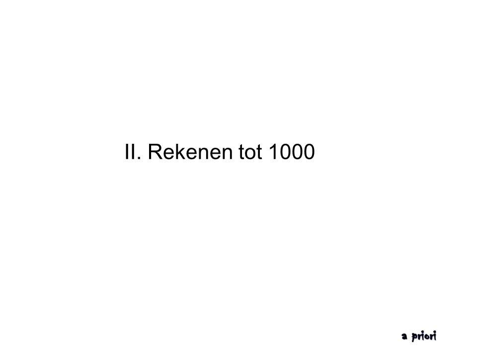 II. Rekenen tot 1000
