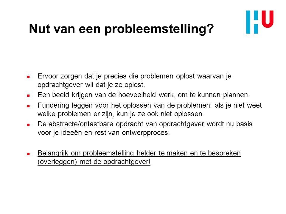 PvE Nut van een PvE? Bron: Ontwerpen van technische innovaties – Inge Oskam e.a. - 2012