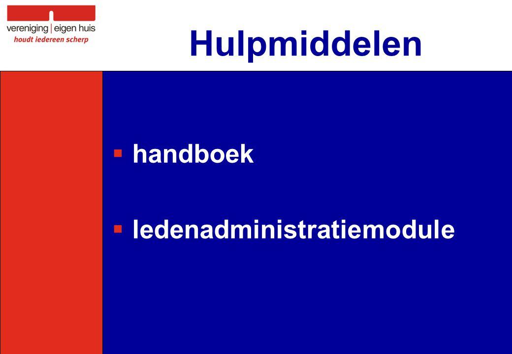  handboek  ledenadministratiemodule Hulpmiddelen