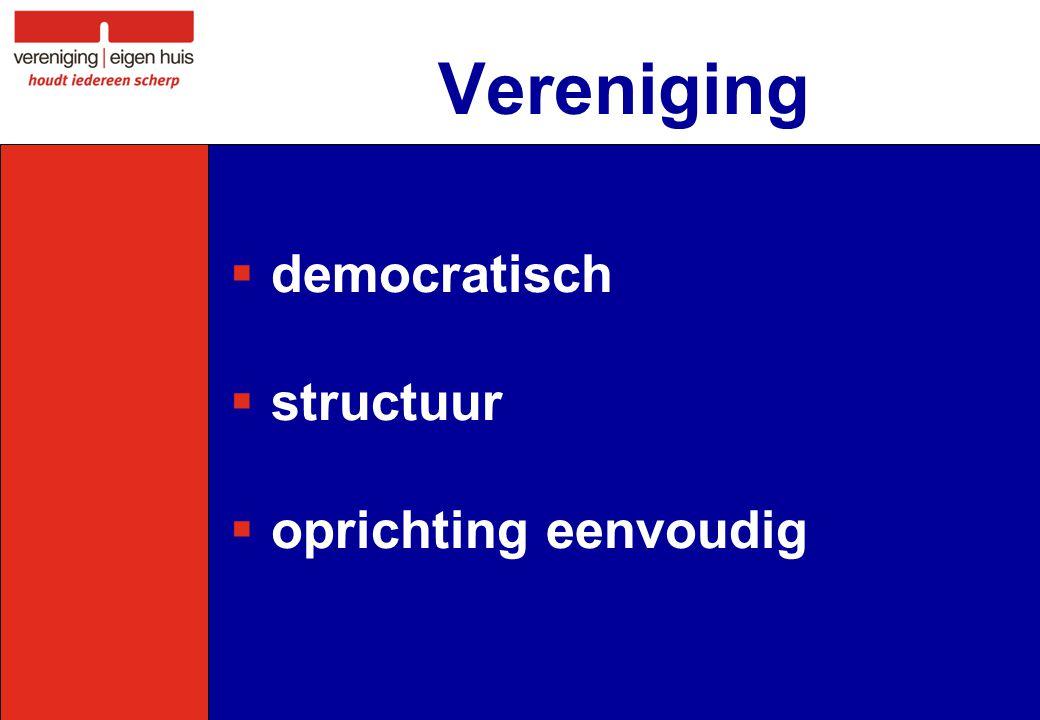 Vereniging  democratisch  structuur  oprichting eenvoudig