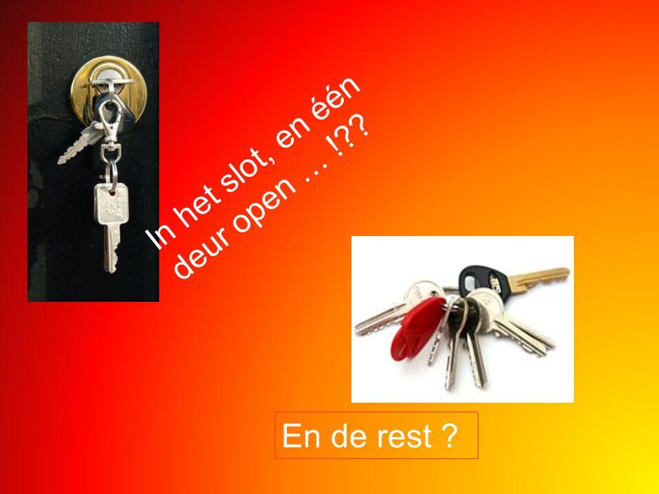 In het slot, en één deur open … !?? En de rest ?