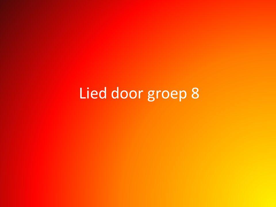 Lied door groep 8
