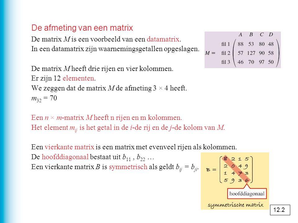 Het vermenigvuldigen van matrices De matrix K in opgave 23 heet de productmatrix van V en W.