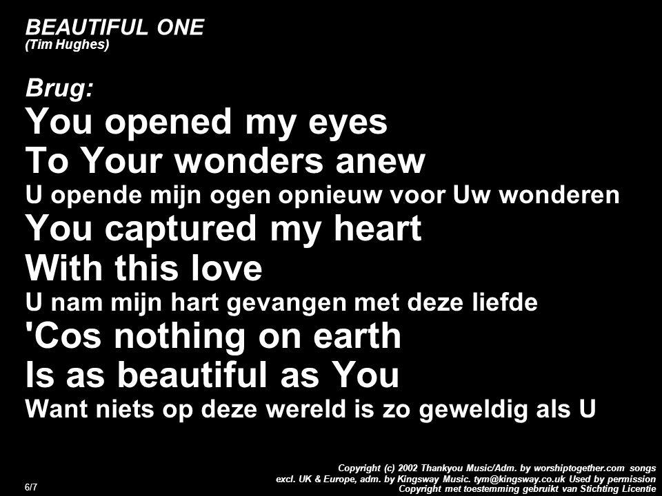 Copyright met toestemming gebruikt van Stichting Licentie Copyright (c) 2002 Thankyou Music/Adm.