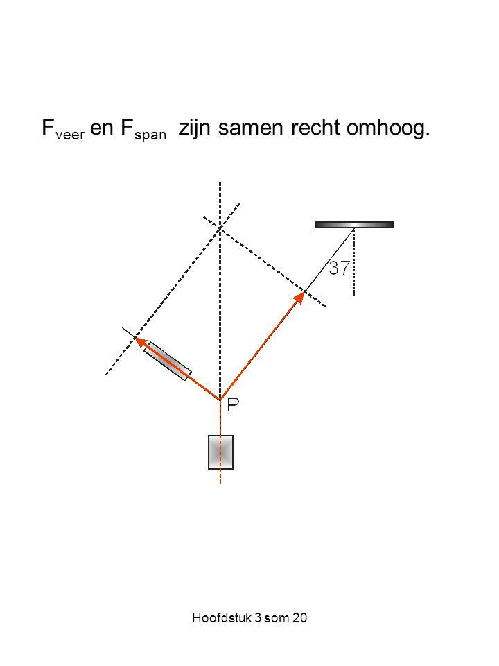 Hoofdstuk 3 som 20 F veer en F span zijn samen recht omhoog.