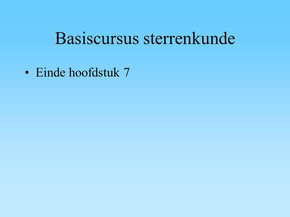 Basiscursus sterrenkunde Einde hoofdstuk 7