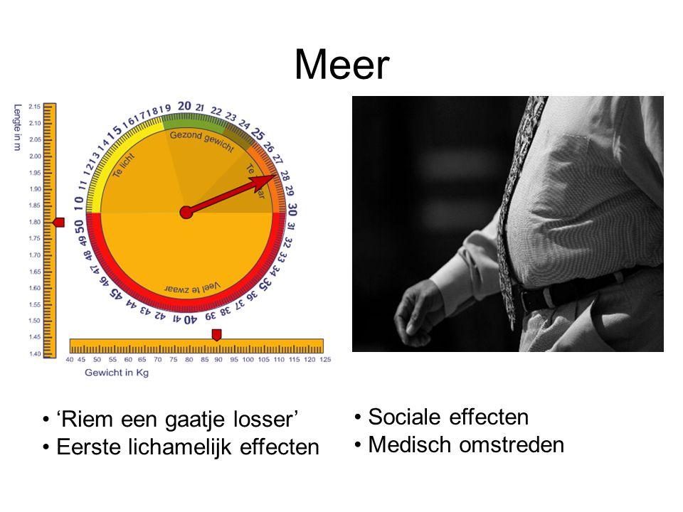 Meer 'Riem een gaatje losser' Eerste lichamelijk effecten Sociale effecten Medisch omstreden