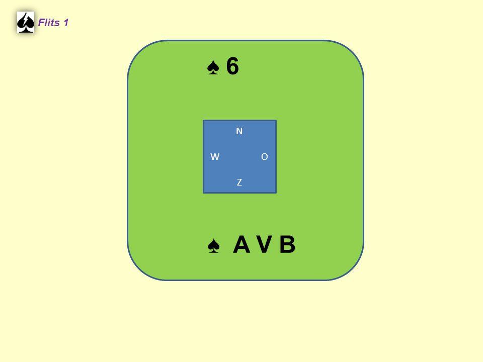 ♠ 6 Flits 1 ♠ A V B N W O Z