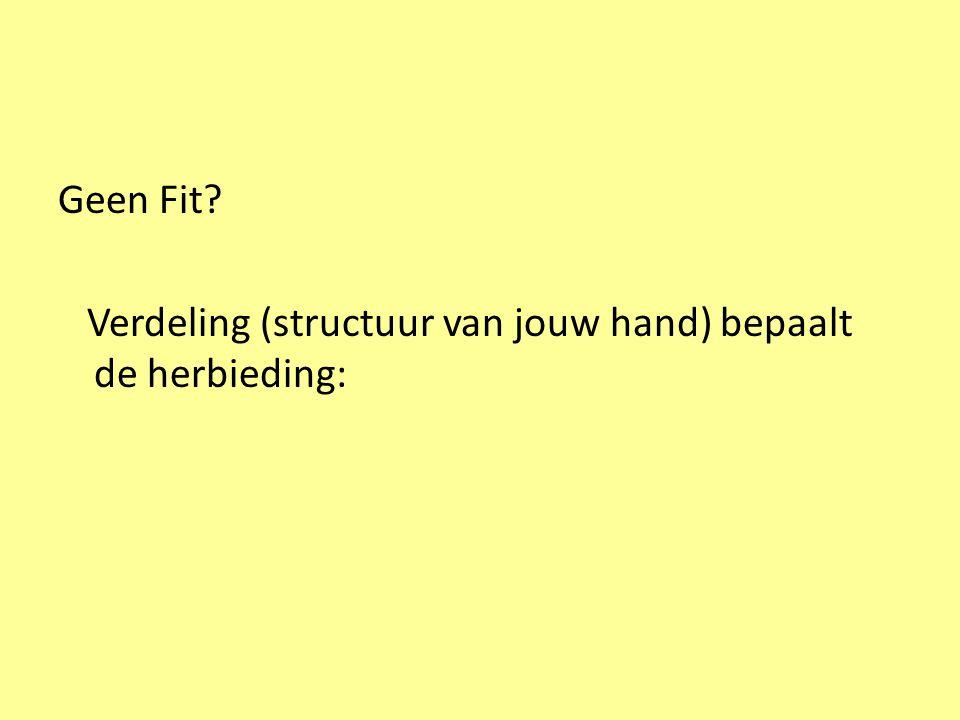 Flits 1 ♠ H B 7 6 3 2 ♥ 6 ♦ 8 4 3 ♣ A 7 6 Partner heeft 18 – 19 punten met SA-verdeling→ 4 ♠ WestNoordOostZuid 1 ♦ pas 1 ♠ pas2 SApas?.