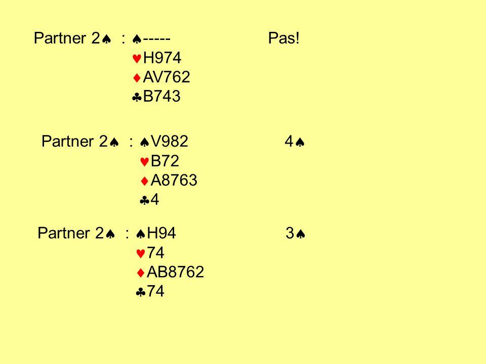 Partner 2  :  ----- Pas! H974  AV762  B743 Partner 2  :  V982 4  B72  A8763  4 Partner 2  :  H94 3  74  AB8762  74