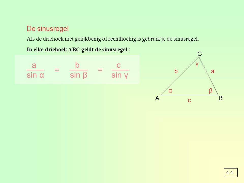 opgave 47b A CB D E 45° 30° 15° 75° 60° ½a√2 + ½a√6 2a sin 15° = = -¼√2 + ¼√6 -½a√2 + ½a√6 2a cos 15° = = ¼√2 + ¼√6 ½a√2 + ½a√6 a√3