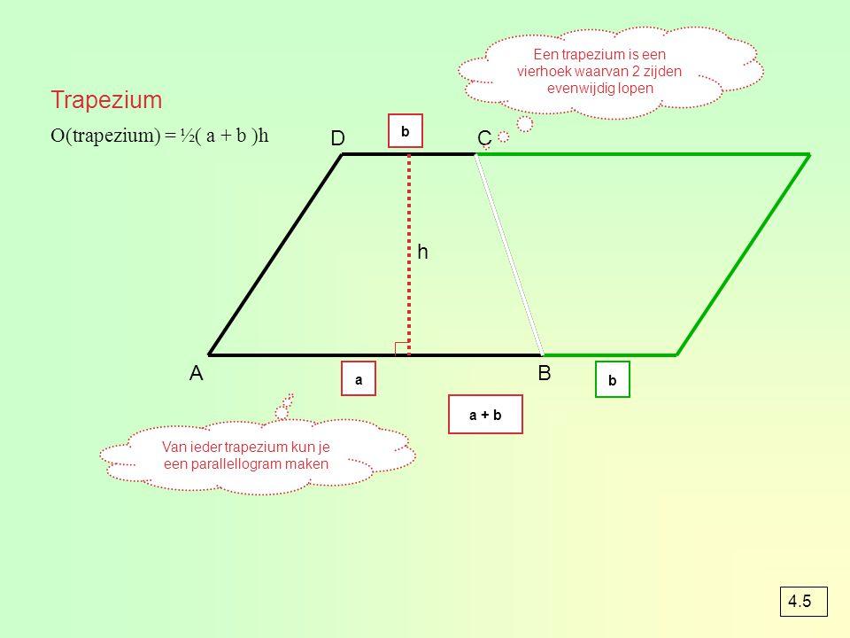 Cirkel 12 voorbeeld 2 Waar kan de geit niet komen ? In het rode gebied dus O(rechth) – O(cirkel) = O(rood) O(rechth) = 20×12 = 240 m² O(cirkel) = π ×