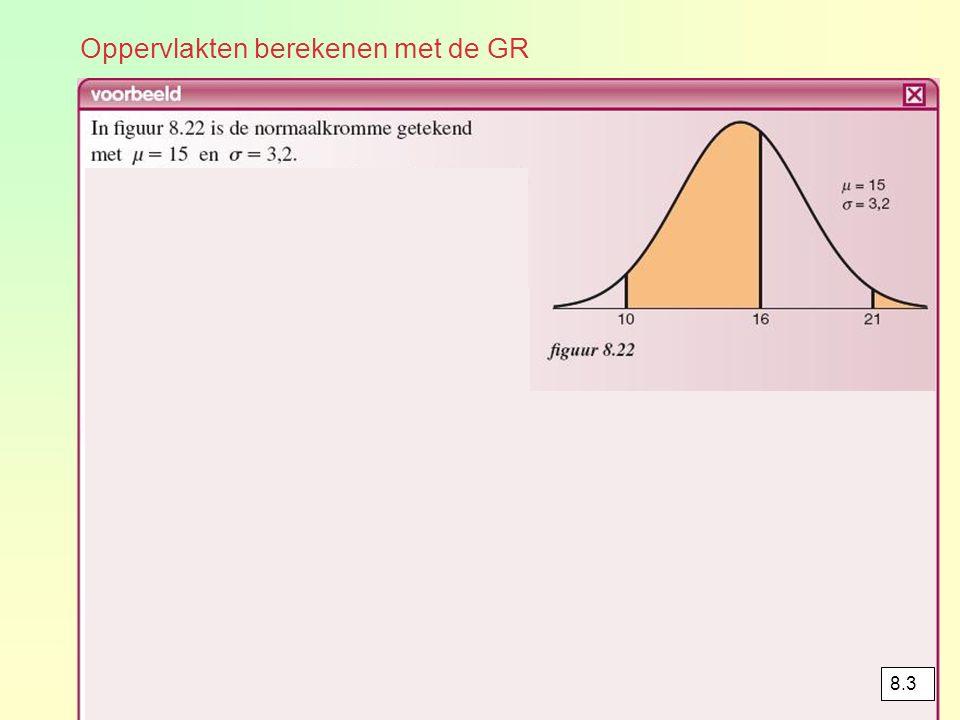 Oppervlakten berekenen met de GR 8.3