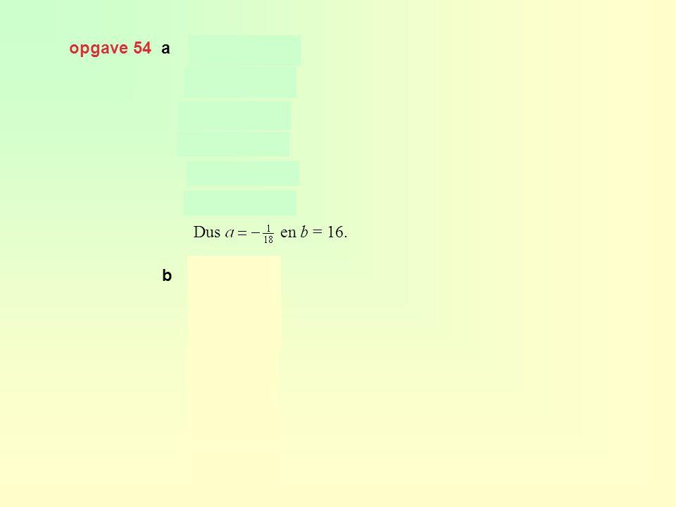 opgave 54 a Dus en b = 16. b