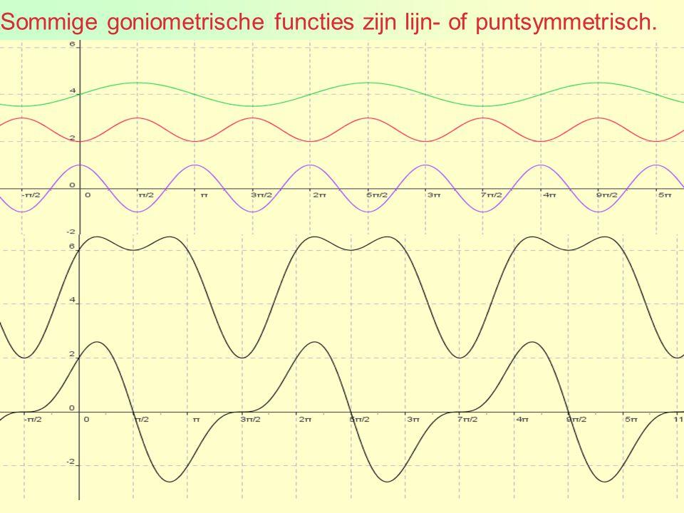 Sommige goniometrische functies zijn lijn- of puntsymmetrisch.