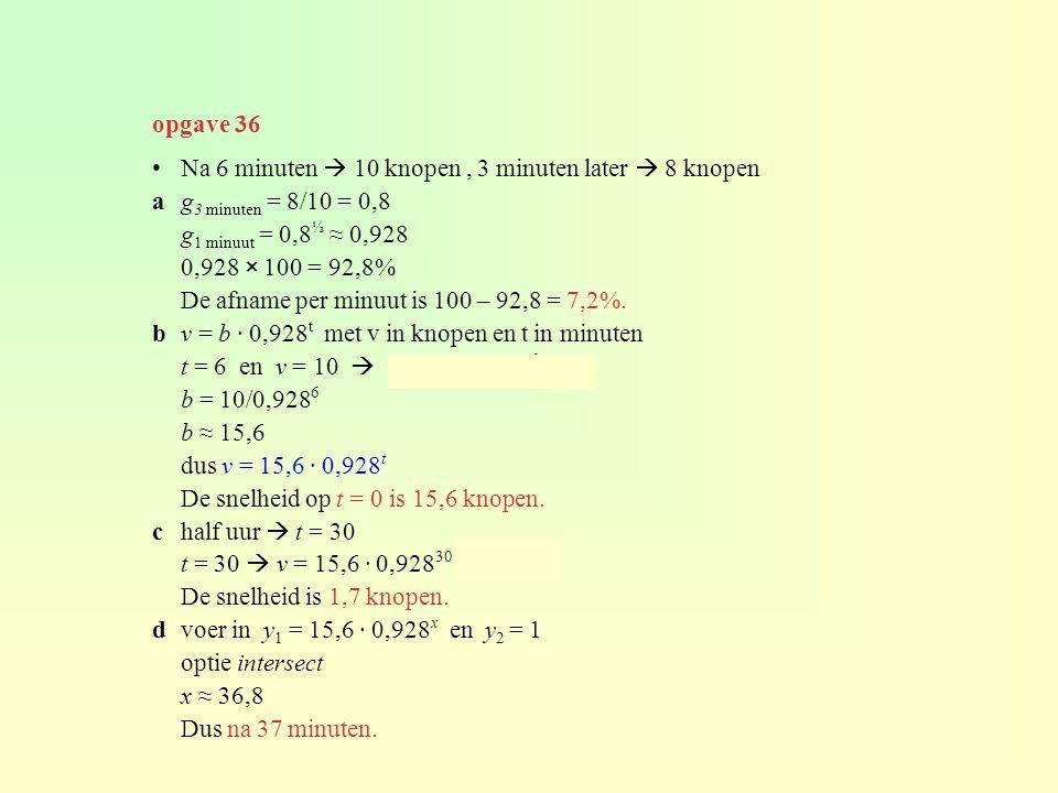 Logaritme en exponent 2 x = 8 x = 3 want 2 3 = 8 2 x = 8 ⇔ 2 log(8) 2 3 = 8 ⇔ 2 log(8) = 3 2 log(32) = 5 want 2 5 = 32 algemeen : g log(x) = y betekent g y = x dus g log(g y ) = y x > 0, g > 0 en g ≠ 0 5.3