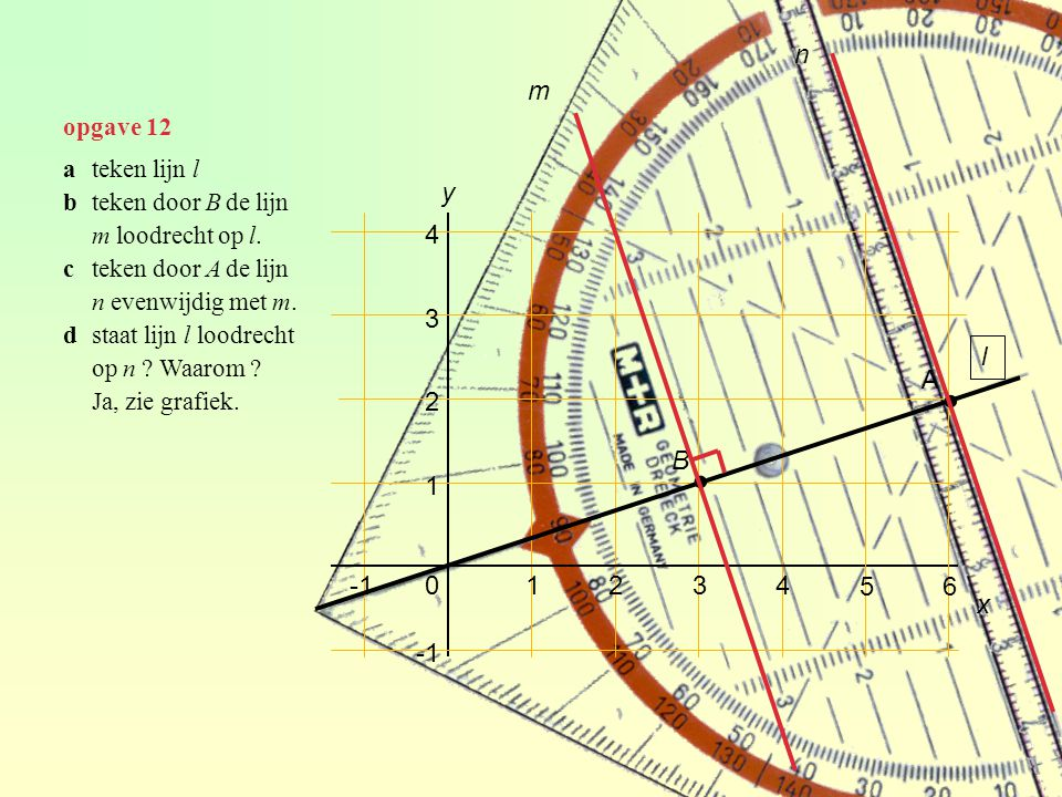 opgave 43b ∙ ∙ 22º hoek van de lichtbundel = 44º
