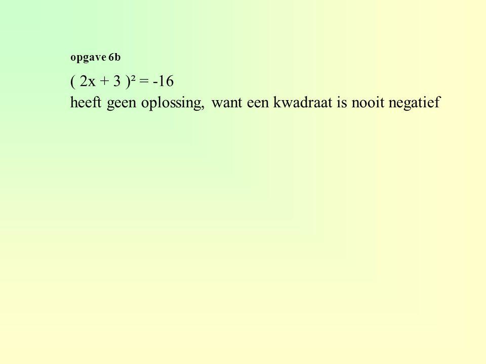 opgave 6h ( x + 3 )² + ( x + 2 )² = 25 (x² + 6x + 9) + (x² + 4x + 4) – 25 = 0 2x² + 10x - 12 = 0 x² + 5x - 6 = 0 ( x - 1 )( x + 6 ) = 0 x - 1 = 0 v x + 6 = 0 x = 1 v x = -6 +6+1 -6+1 prod.= -6 +6