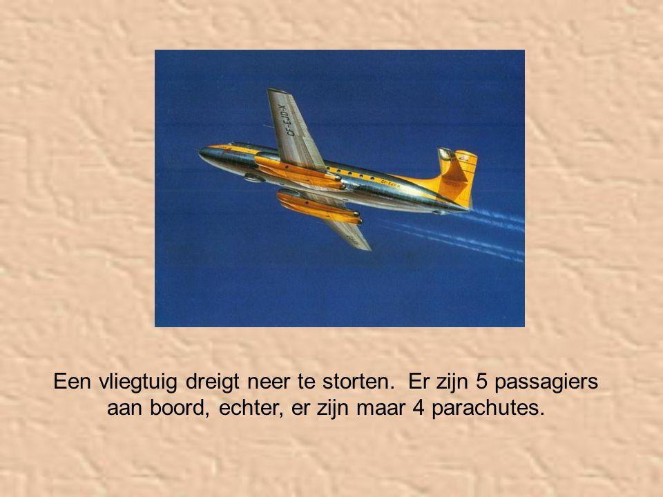 Een vliegtuig dreigt neer te storten.