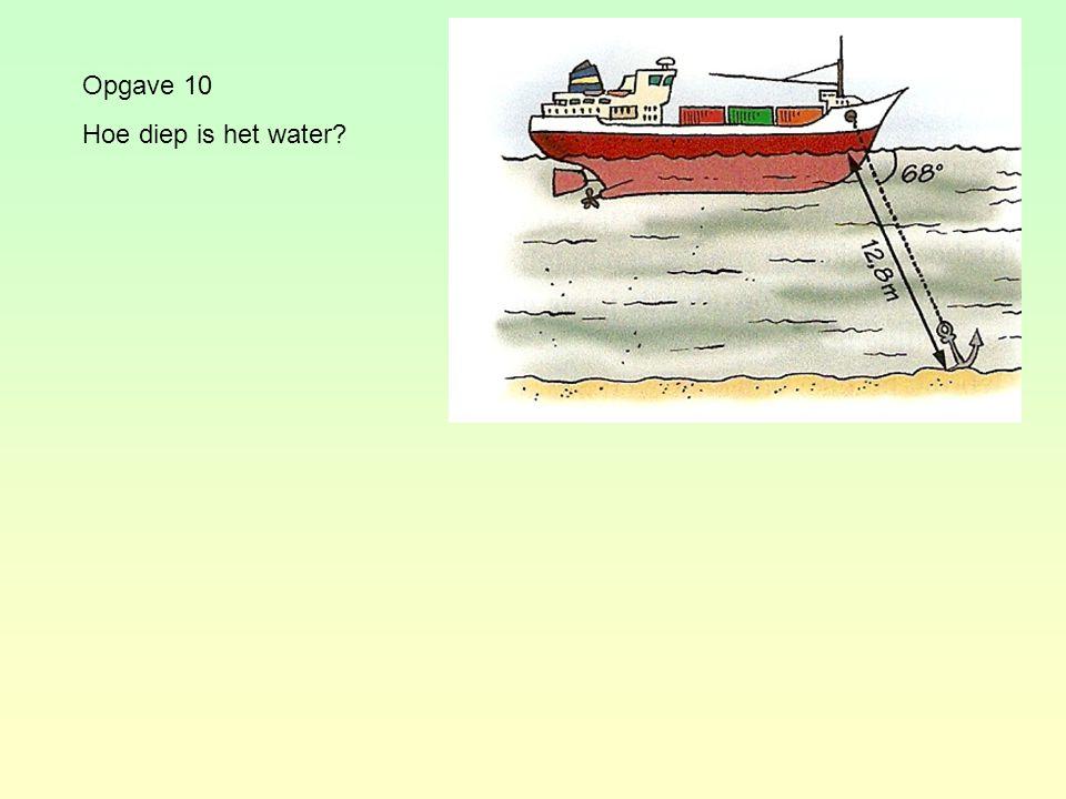 Opgave 10 Hoe diep is het water?