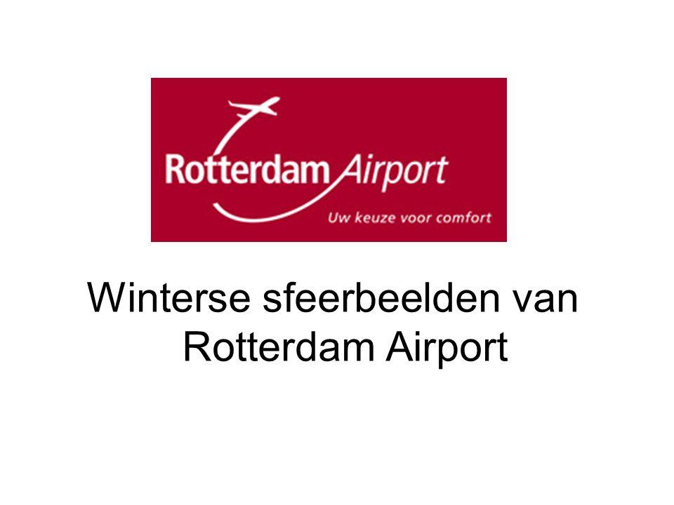 Winterse sfeerbeelden van Rotterdam Airport