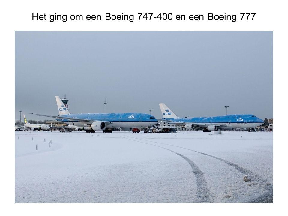 Het ging om een Boeing 747-400 en een Boeing 777