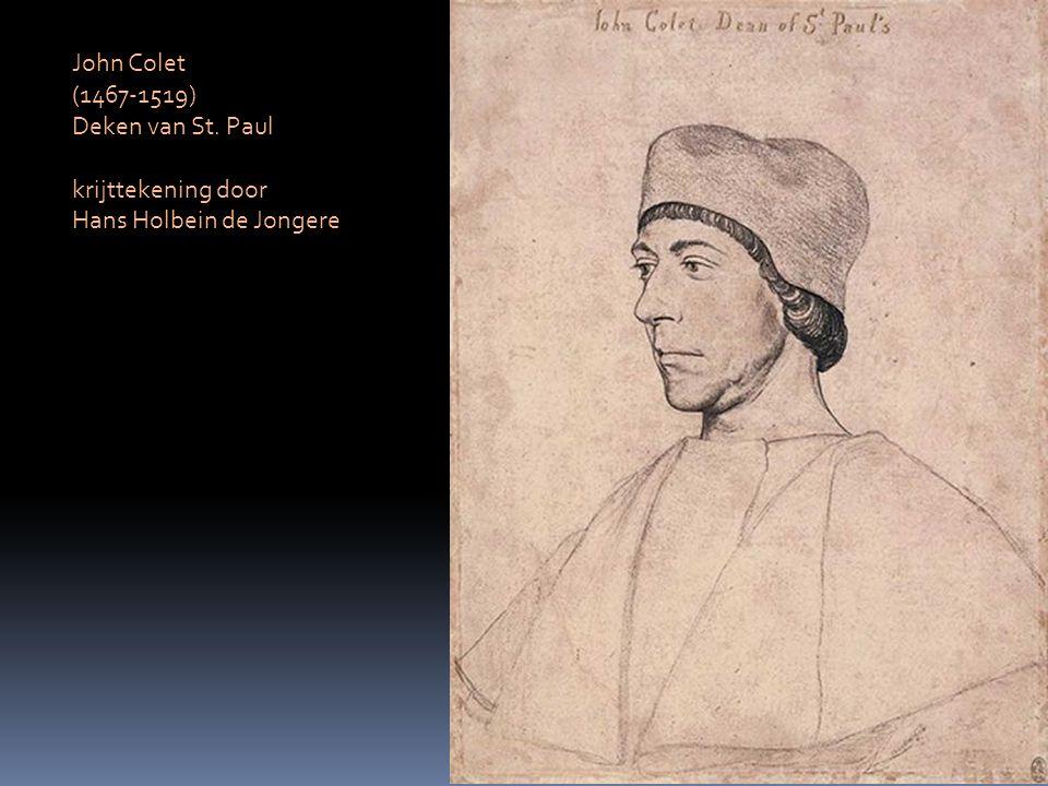 John Colet (1467-1519) Deken van St. Paul krijttekening door Hans Holbein de Jongere