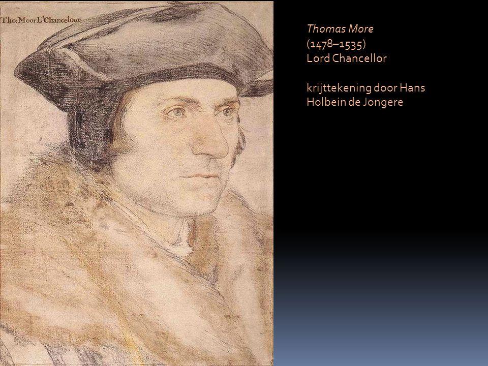 Thomas More (1478–1535) Lord Chancellor krijttekening door Hans Holbein de Jongere