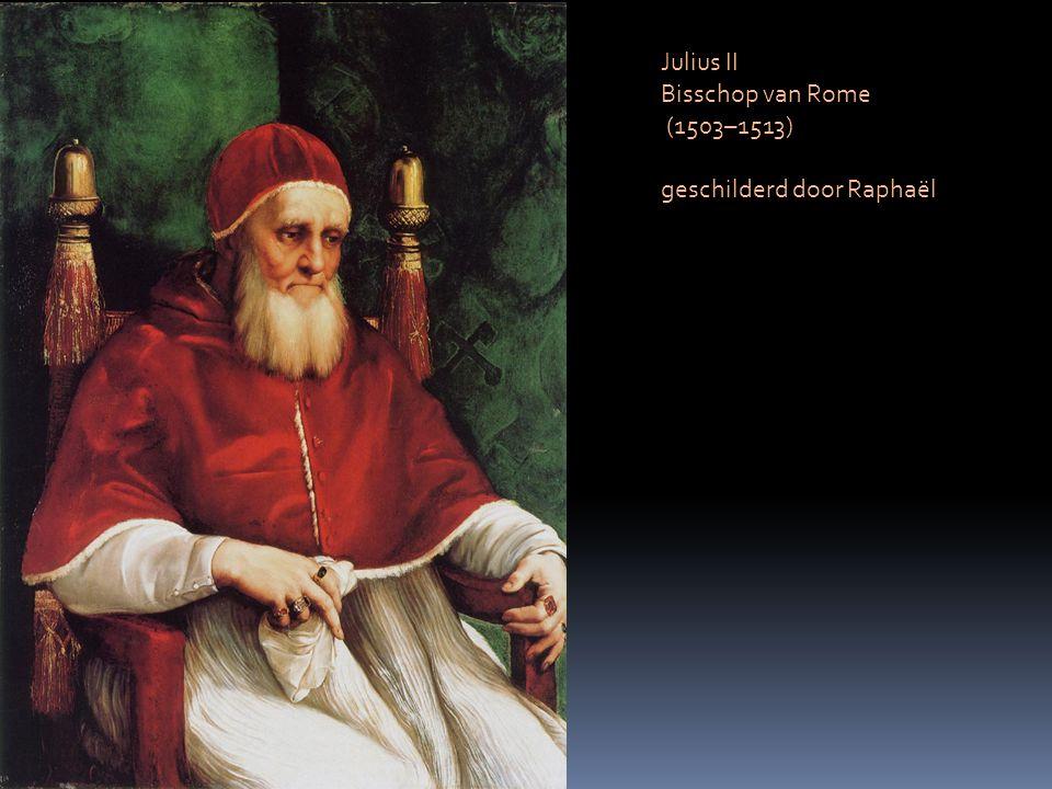 Julius II Bisschop van Rome (1503–1513) geschilderd door Raphaël