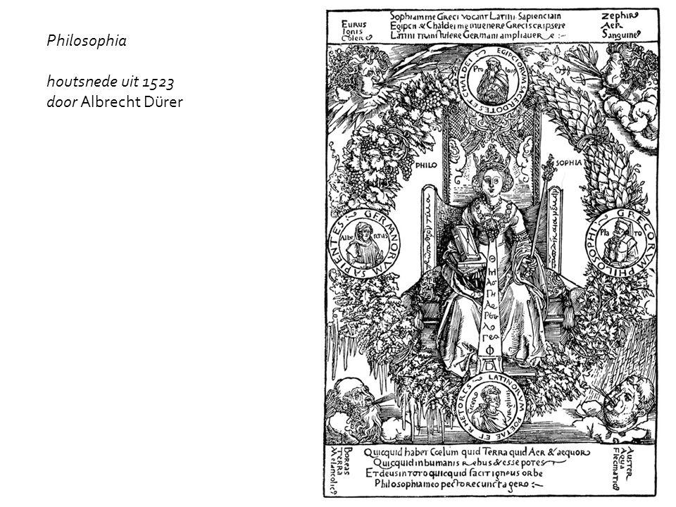 Philosophia houtsnede uit 1523 door Albrecht Dürer
