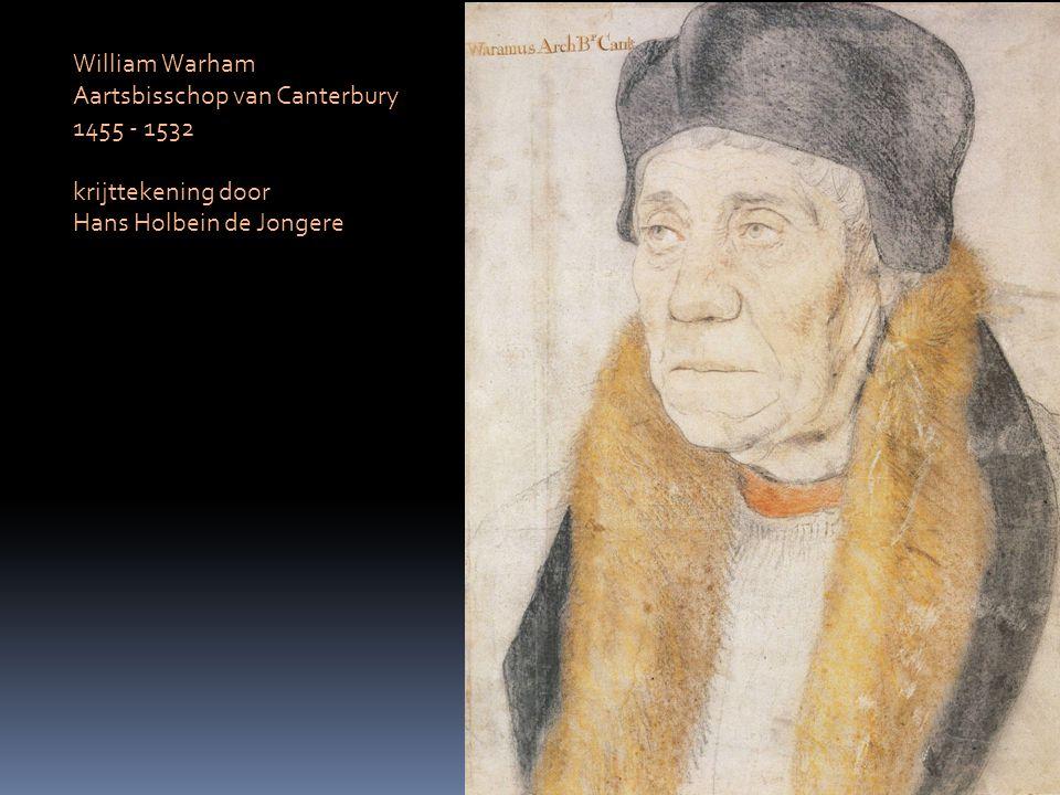 William Warham Aartsbisschop van Canterbury 1455 - 1532 krijttekening door Hans Holbein de Jongere