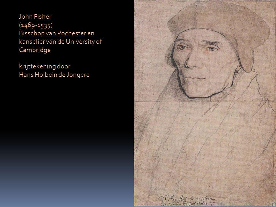 John Fisher (1469-1535) Bisschop van Rochester en kanselier van de University of Cambridge krijttekening door Hans Holbein de Jongere