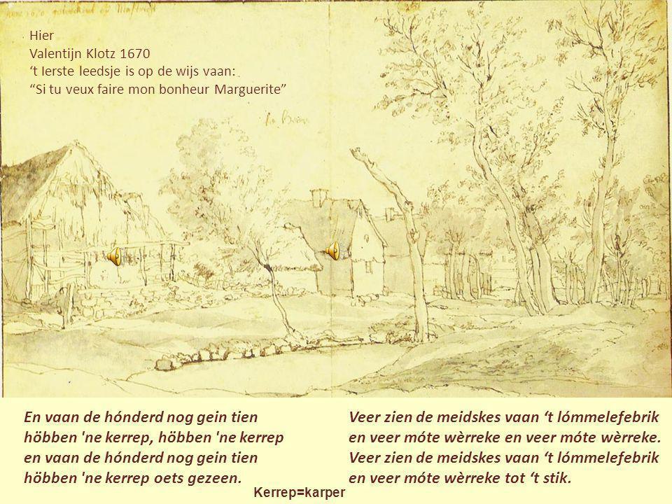Sint Pieter mèt Lichtenberreg J. de Grave óngeveer 1669 Triene de bökkem heet 'ne klepel en aon dee klepel hink 'n bel. En es ze rope :