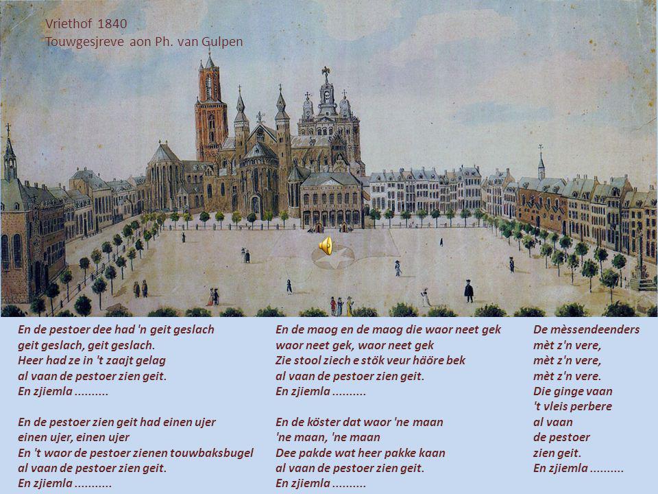 Jaokopskèrrek 1671 Valentijn Klotz Veer drage 3 kleure die stoon us zoe good En wee ze neet dreug heet gei Momusseblood Vaan tiederalalala Vaan tieder