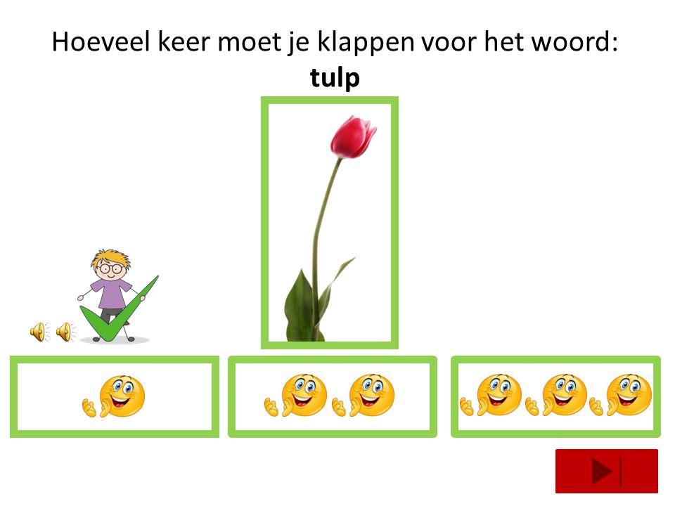 Hoeveel keer moet je klappen voor het woord: tulp